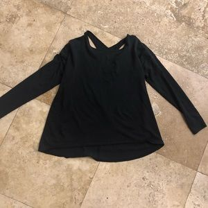 Lululemon athletic long sleeve black shirt
